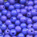 Acrylic beads, blue, Spherical, Diameter 6mm, 7g, 50 beads, (SLZ0009)